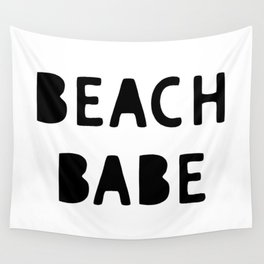 Beach Babe Summer Decor Phrase Wall Tapestry