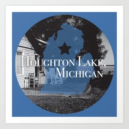 Houghton Lake, MI Art Print