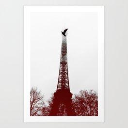 Bird on the tower Art Print