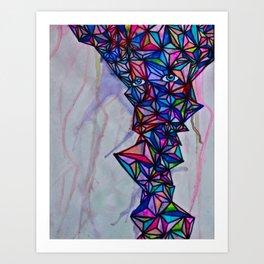 Geometric Shape Creature #1 (bright) Art Print