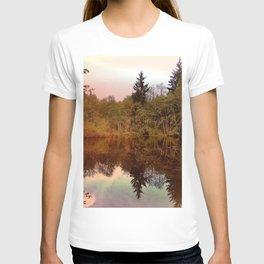 Mirror Pond, Perfect Stillness At Sunset T-shirt