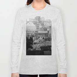 """Valparaiso Chile: Waterfront district showing """"ascensors"""" up to top of bluff. June, 1941. Long Sleeve T-shirt"""