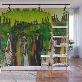 African American Masterpiece 'Funeral Procession' by Ellis Wilson Wall Mural