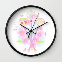 cardcaptor sakura wands Wall Clock