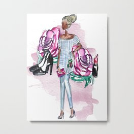 Flowers and Fashion Metal Print