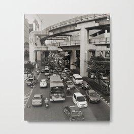 Bangkok Traffic Metal Print