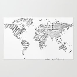 Continents rugs society6 world map music vintage white rug gumiabroncs Images
