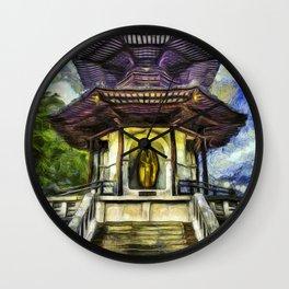 The Pagoda Vincent Van Gogh Wall Clock