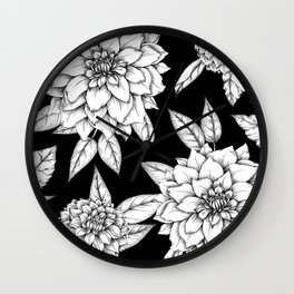 Dahlias Wall Clock