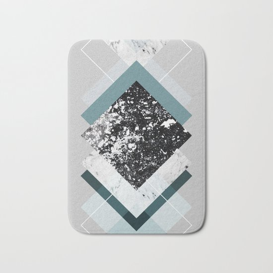 Geometric Textures 8 Bath Mat