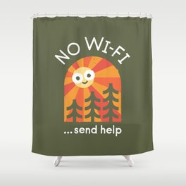 Distress Signal Shower Curtain