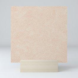 Desert Dots / Nude Sand Texture Mini Art Print