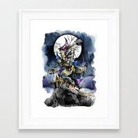nightmare before christmas Framed Art Prints featuring The nightmare before christmas by Sandra Ink
