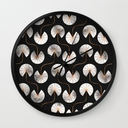 Abstract Ginkgo Leaves Pattern Wall Clock