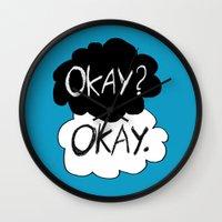 okay Wall Clocks featuring Okay? Okay.  by Tangerine-Tane