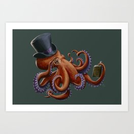 Tentacled Monocled Sir Art Print
