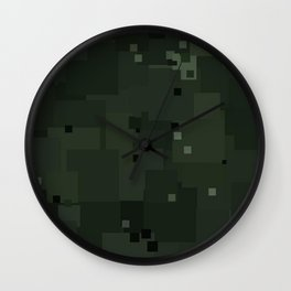 Duffel Bag Square Pixel Camouflage Color Accent Wall Clock