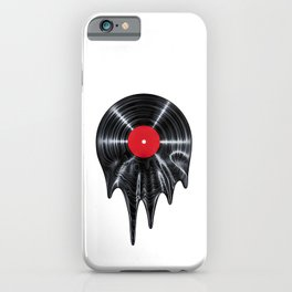 Melting vinyl / 3D render of vinyl record melting iPhone Case