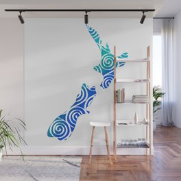 New Zealand North and South Island Koru pattern in indonesian batik style Wall Mural