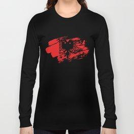 Albania Flag Tee Shirt Long Sleeve T-shirt