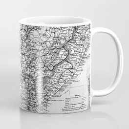 Vintage Map of South Africa (1892) BW Coffee Mug