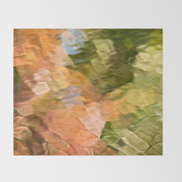 Cinnamon Mosaic Abstract Art Throw Blanket