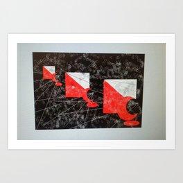 RedandBlack Art Print