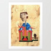 federico babina Art Prints featuring Ritratto di Federico II - L'Epoca di Federico II by Francesca Cosanti