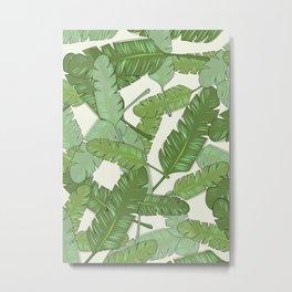 Banana Leaf Print Metal Print