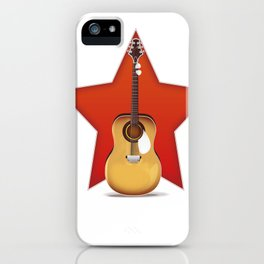 Acoustic Guitar Star iPhone Case