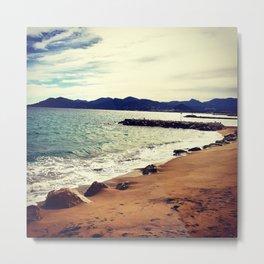 Beautiful French beach near Cannes Metal Print