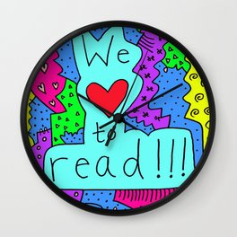 We Love to Read Wall Clock