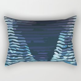 Wave #5 Rectangular Pillow