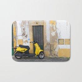Yellow street Evora Portugal Bath Mat