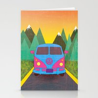 volkswagon Stationery Cards featuring Das Auto by Daizy Jain