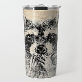 Surprised raccoon Travel Mug