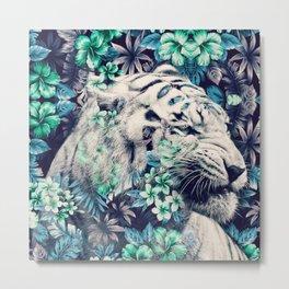 Floral Tiger Metal Print
