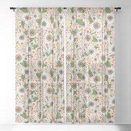 happy daisies Sheer Curtain