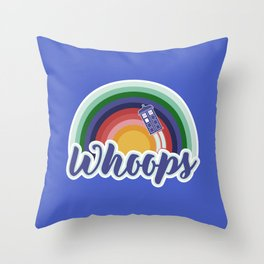 Retro Whoops Throw Pillow