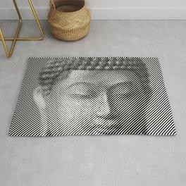Buddha Face Statue Rug