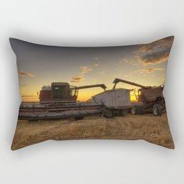 Golden Hour Grain Rectangular Pillow