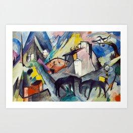 "Franz Marc ""The Unfortunate Land of Tyrol"" Art Print"