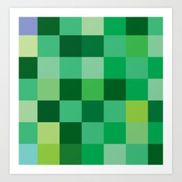 Squares of Luck Art Print