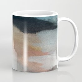 Dawn: a minimal abstract acrylic piece in pink, blues, yellow, and white Coffee Mug