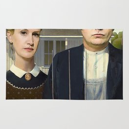 Dwight And Angela American Gothic Rug