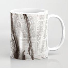 Rain Shower (Regenschauer) Charcoal Newspaper Figure Drawing Coffee Mug