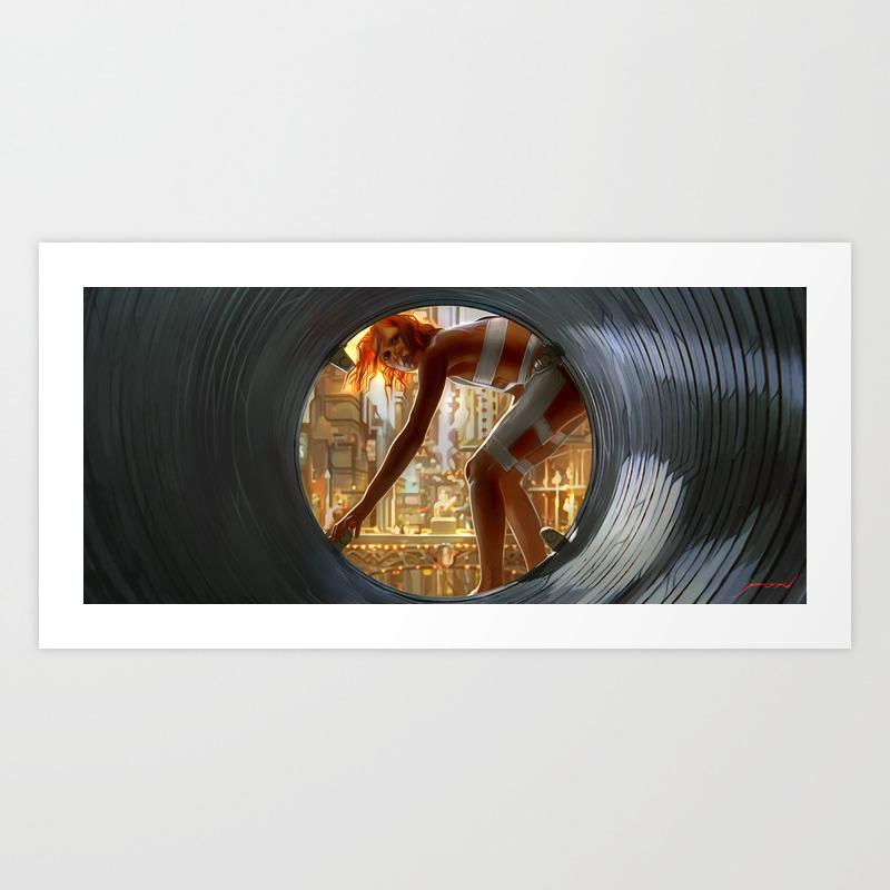 Leeloo Fifth Element Art Print by Radical_p PRN7021161