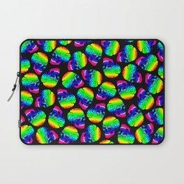 Rainbow Skulls Pattern Laptop Sleeve