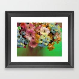 Floral Grunge Framed Art Print