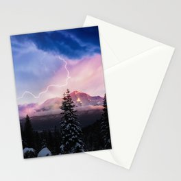 Stormy Skies over Mt. Shasta Stationery Cards